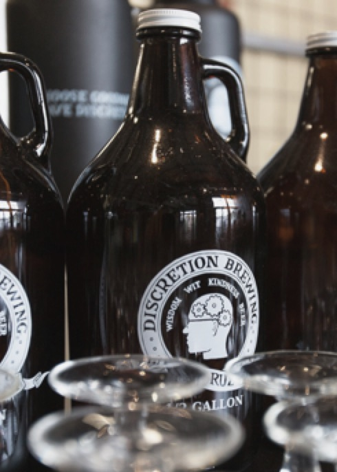 Discretion Brewing Growlers
